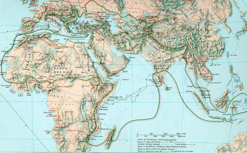 Map Muslim 15th Century