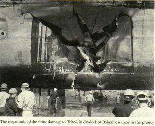 Tripoli Mine Damage