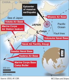 Us Bases In Japan Business As Usual As They Help In Relief