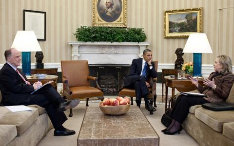 Obama-Clinton-Donilon Sitaround