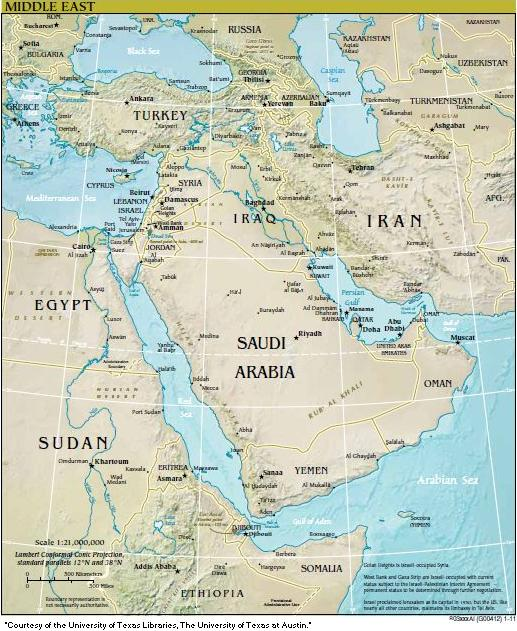 Map-Middle East