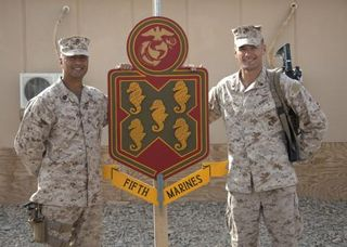 LCpl and SgtMaj Hoopii