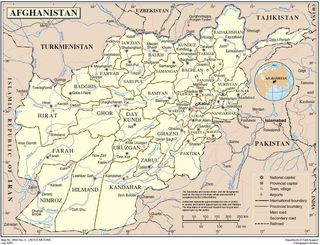 Afghanistan Map UN July 2009