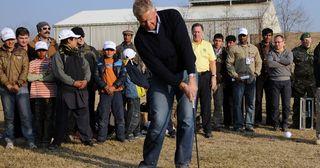 Golf Pro Colin Montgomerie Kabul