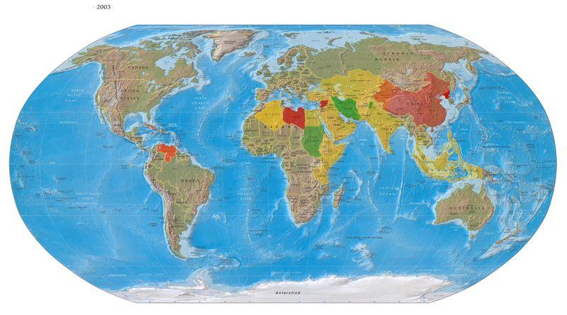 World Map 2003-Enemies-Struggles