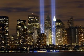 9-11beams of light
