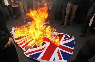 UKflag burning