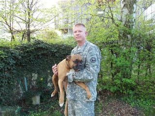1SG Clark Kuhling with Holly-Eva