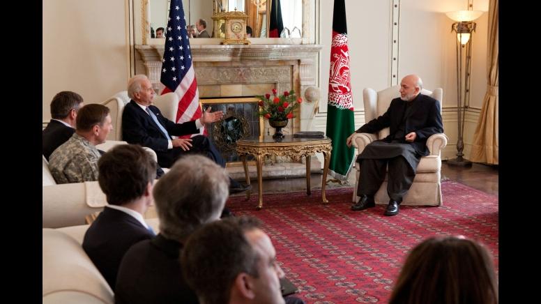 Biden Lectures Karzai