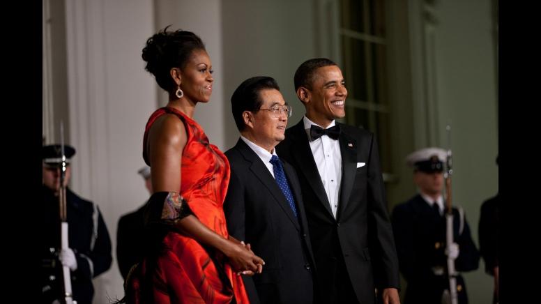 Obamas wChinese Pres Hu