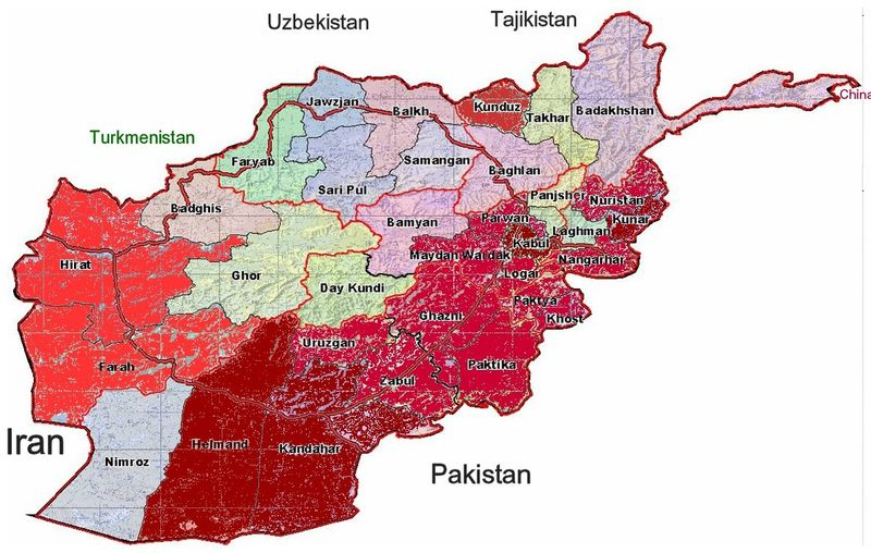 AfghanistanProvinces-Deadliest