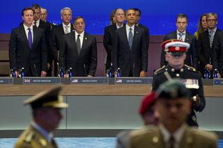 Obama Honors NATO Colors