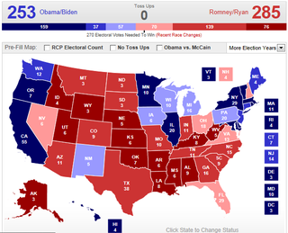 RCP Romney win map