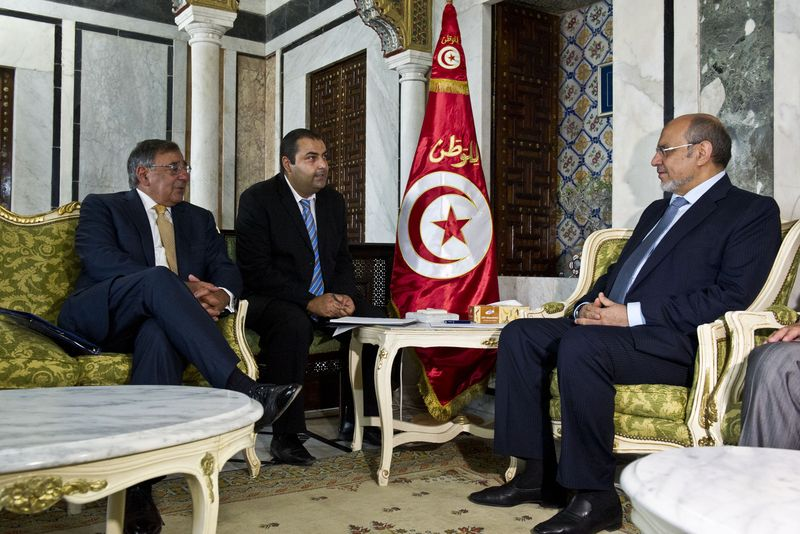 Panetta Tunisian PM Hamadi Jebali